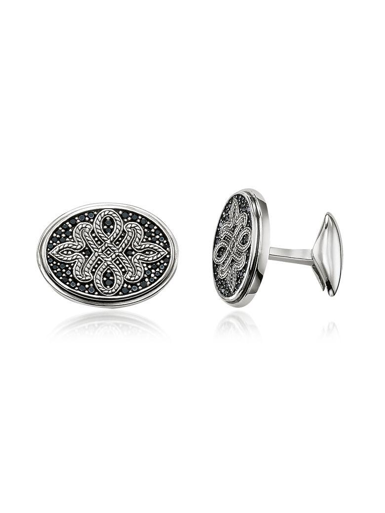 Thomas Sabo Blackened Sterling Silver Love Knot Cufflinks - Silver