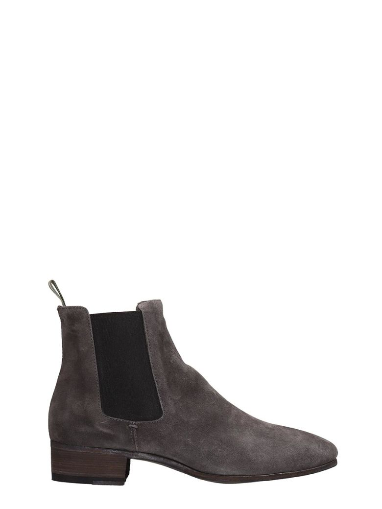 Officine Creative Grey Suede Ankle Boots - Gray
