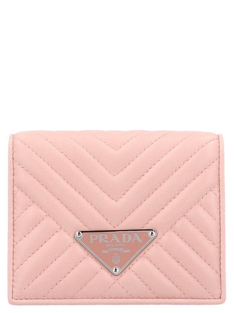 Prada 'diagram' Wallet - Pink