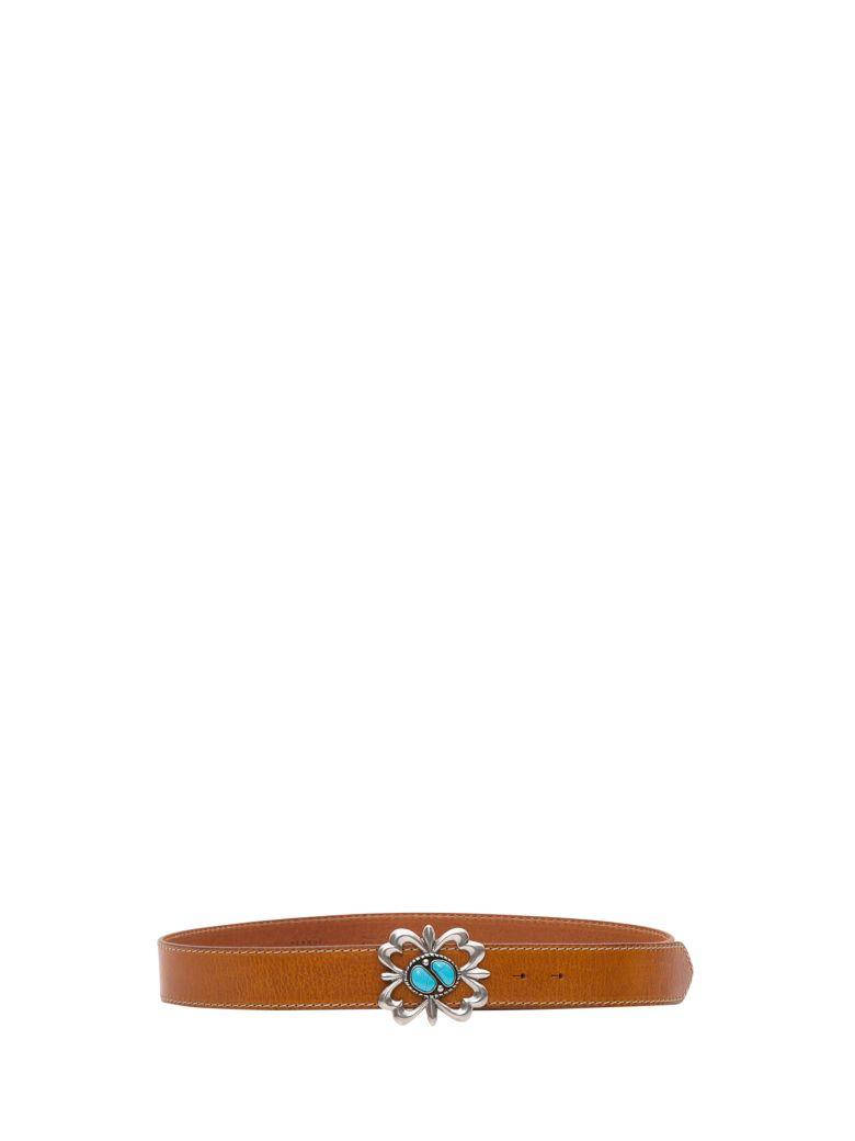 Alanui Navajo Leather Belt - Marrone