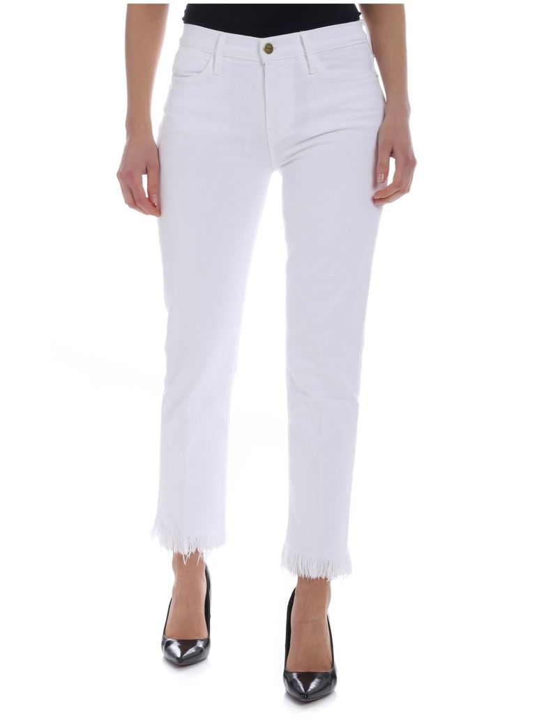 Frame - Le High Straight Jeans - White