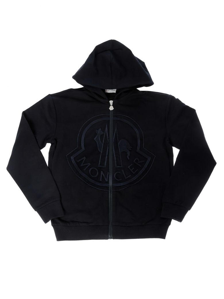 Moncler Kids Embroidered Logo Hoodie