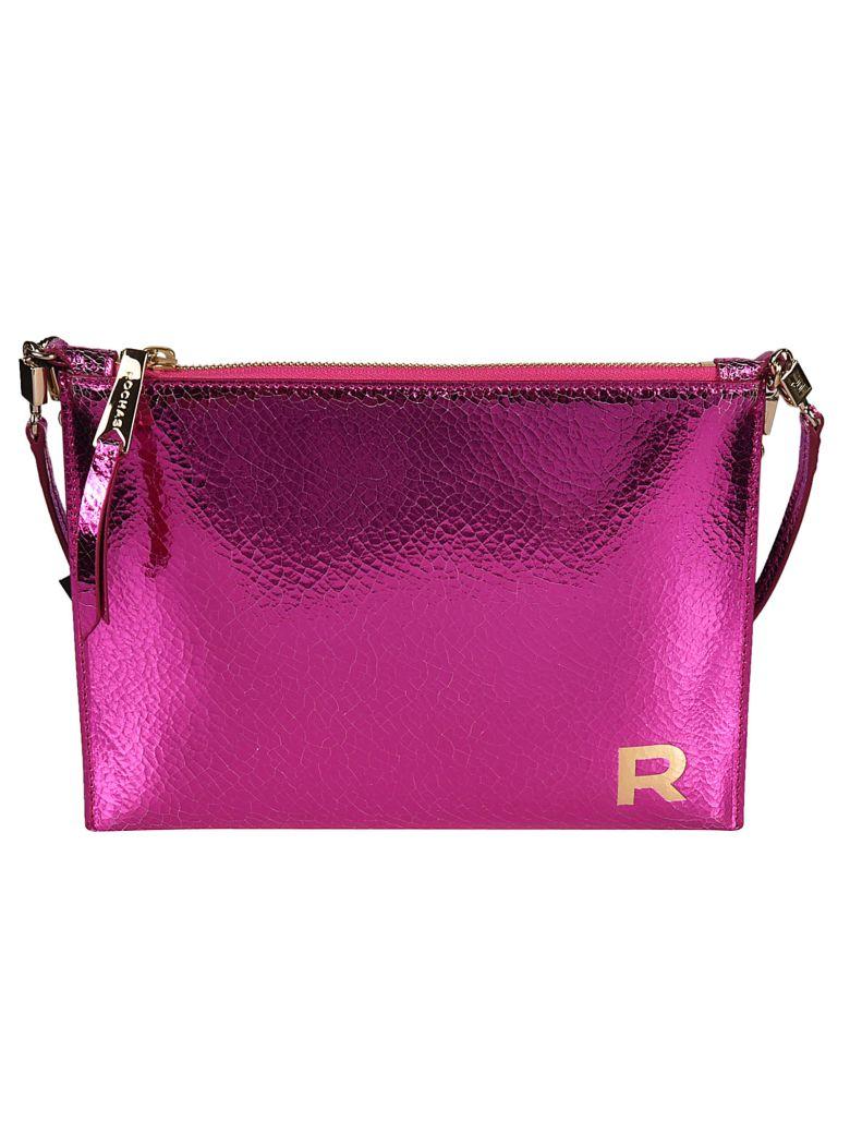 Rochas Logo Shoulder Bag - Fuchsia