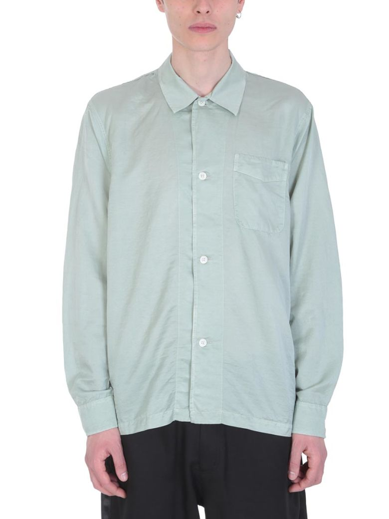 Our Legacy Green Cotton And Silk Shirt - green