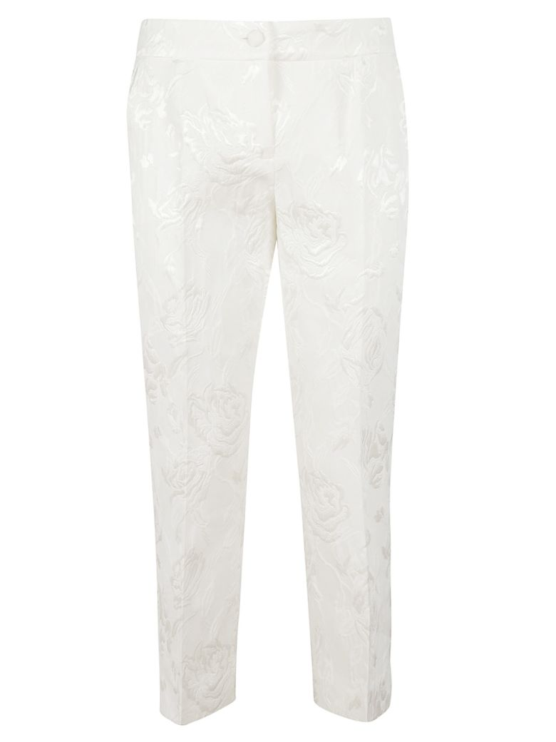 Dolce & Gabbana Floral Trousers - white