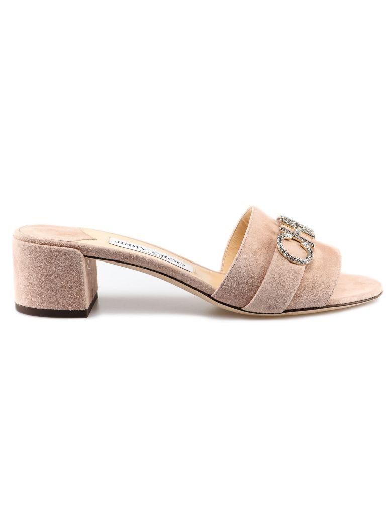 Jimmy Choo Jimmy Choo Crystal Logo Sandals - Ballet Pink/crystal