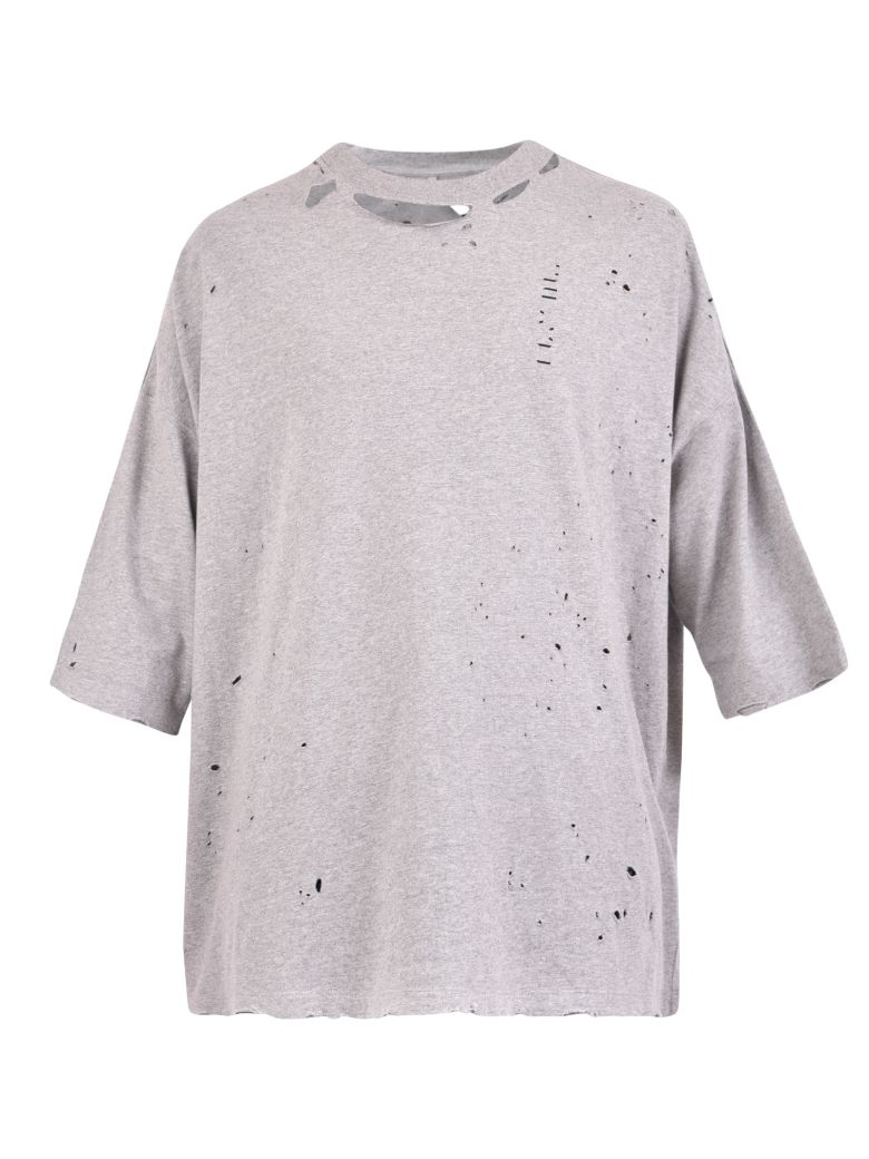 Ben Taverniti Unravel Project Destroyed T-shirt - Grey
