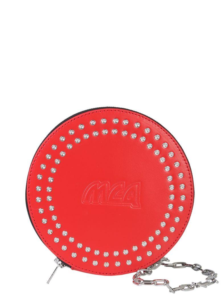 McQ Alexander McQueen Circular Clutch - ROSSO