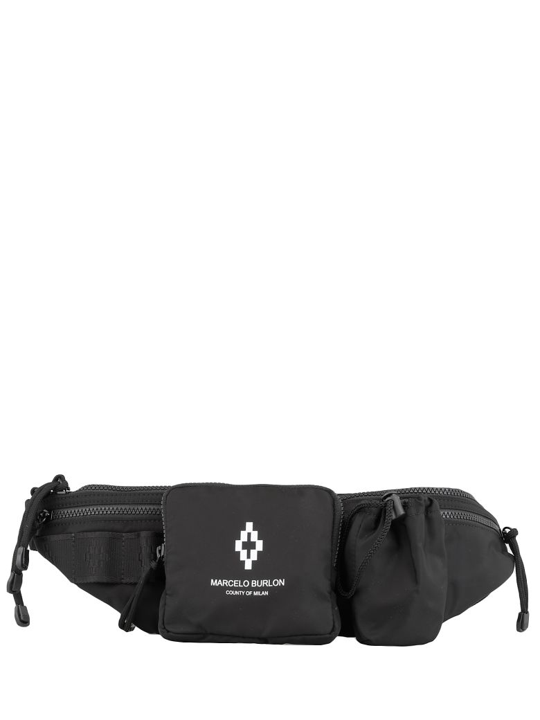 Marcelo Burlon Cross Fanny Pack - MEDIUM GREY BLACK