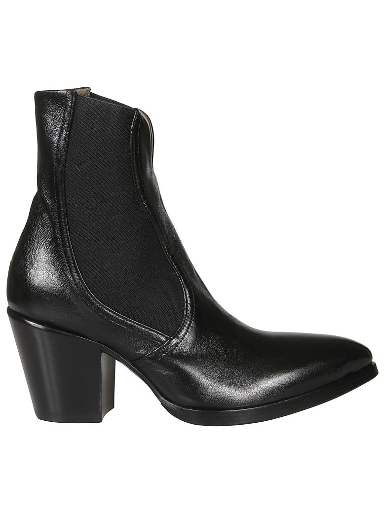 Rocco P. Pointed Toe Ankle Boots - Hondo Black