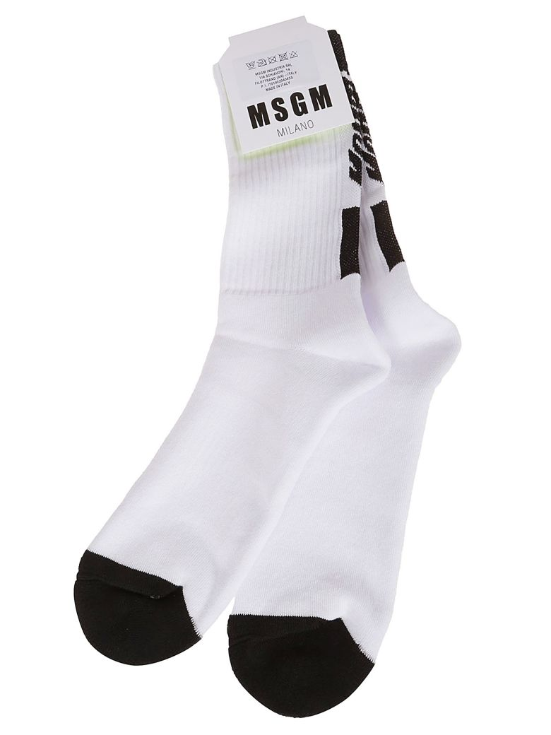 MSGM Ribbed Socks - Nero