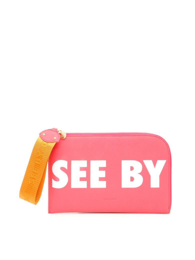 See by Chloé Logo Joris Clutch - ARDENT PINK (Pink)