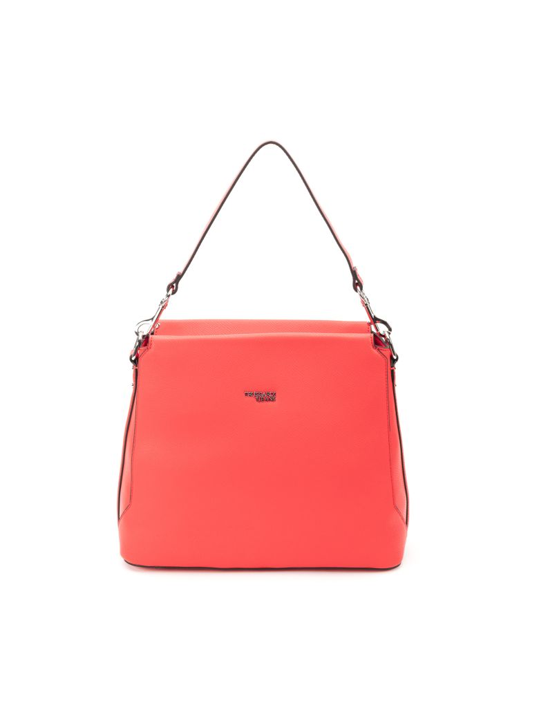 Trussardi Trussardi Berry Faux Leather Hobo Bag - RED
