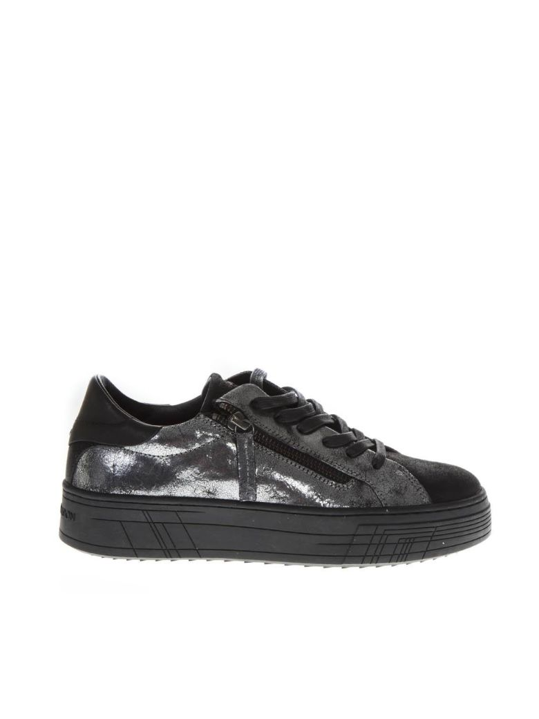Crime london Silver Leather Low-top Sneakers - Silver