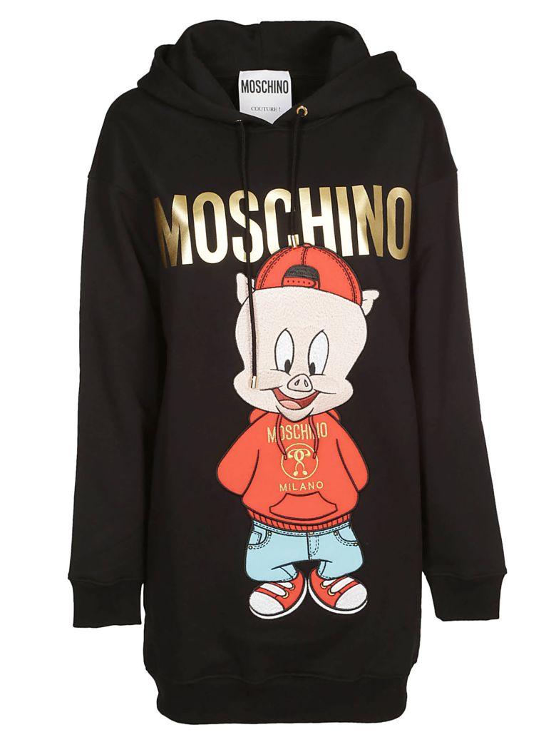 Moschino Hoodie Porky Pig Hoodie - Black