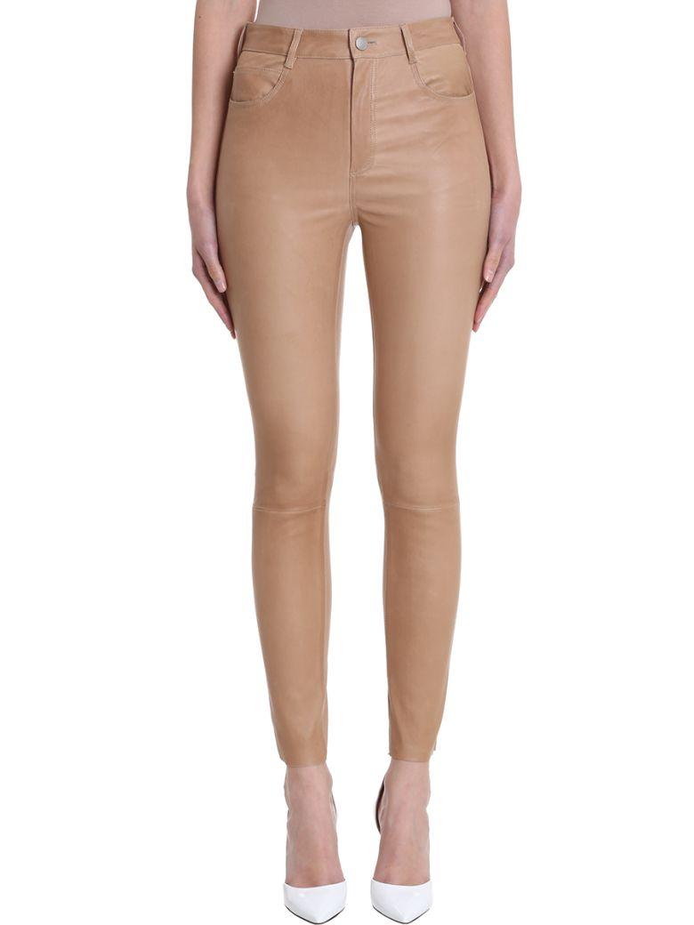 DROMe Skinny Leather Leggings - leather color