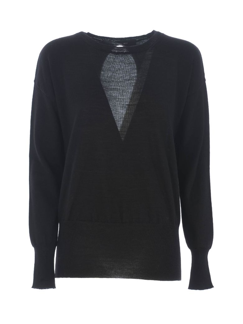 Federica Tosi Cut-out Detail Sweater - Nero