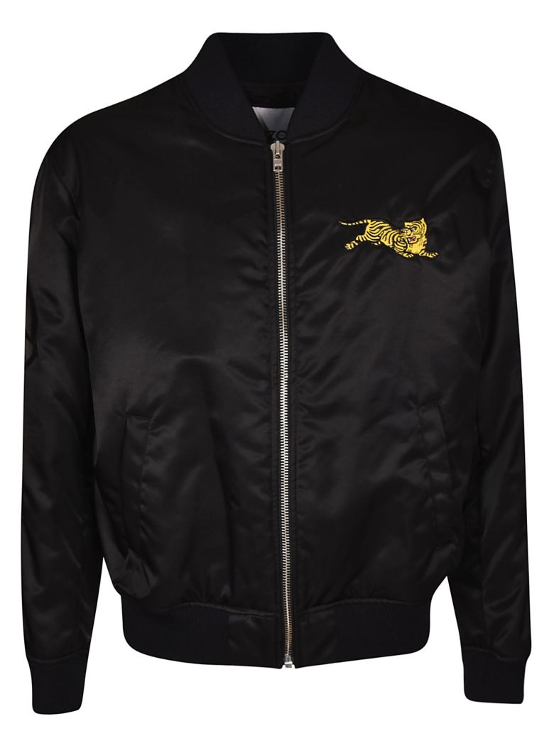 Kenzo Tiger Embroidered Bomber - Black