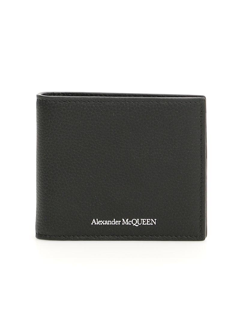 Alexander McQueen Wallet With Money Clip - BLACK (Black)