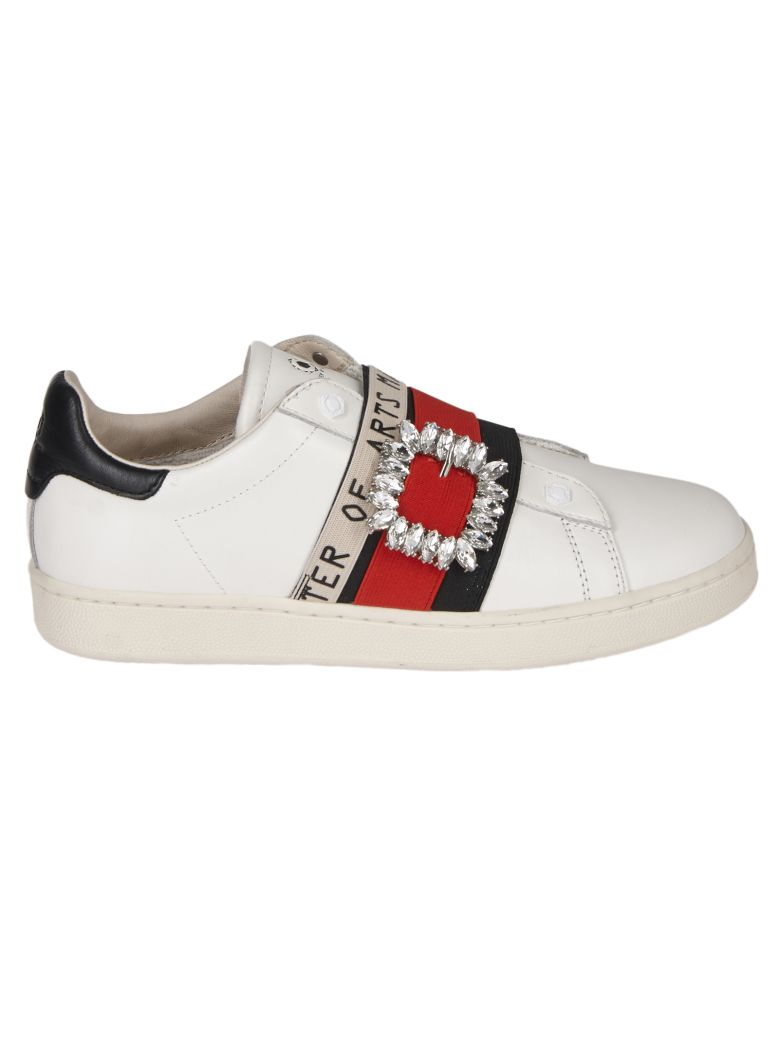 M.O.A. master of arts Embellished Sneakers - white