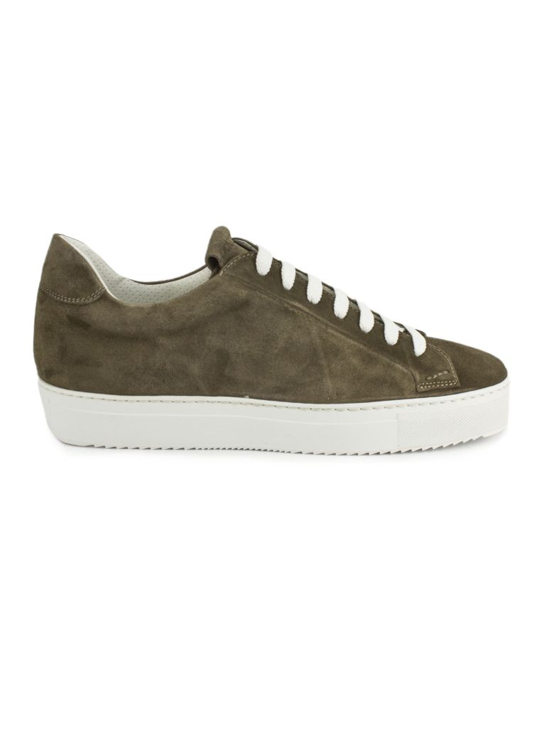 Doucal's Sneakers In Brown Suede Leather - Sabbia