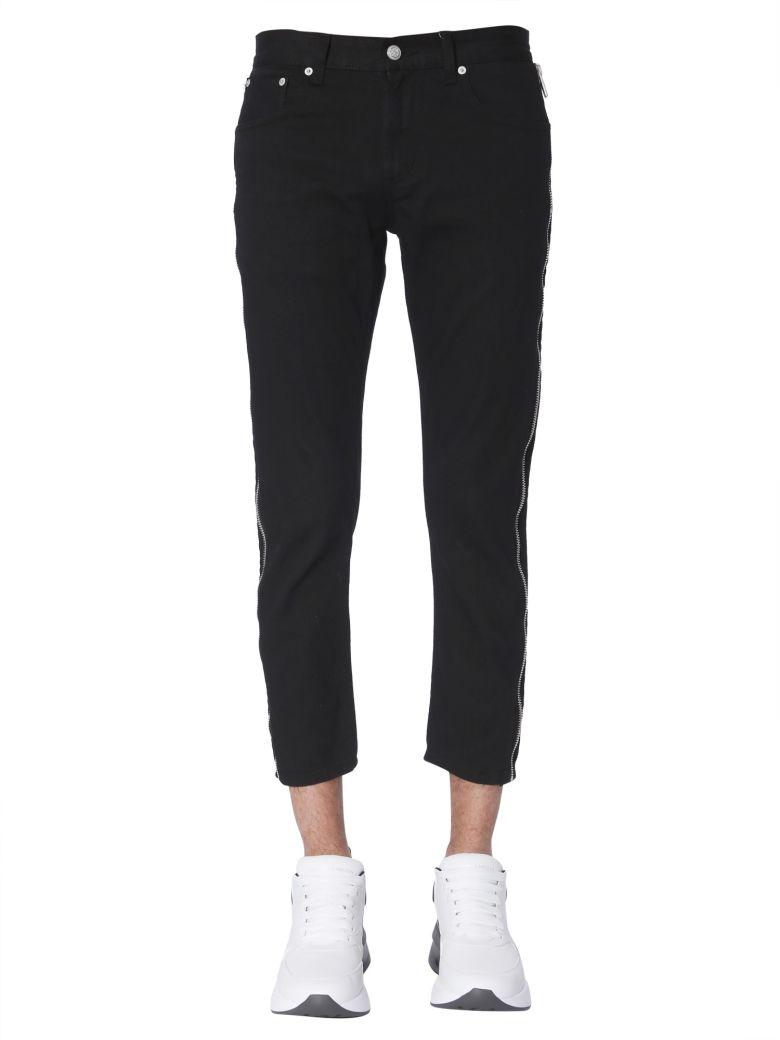 Alexander McQueen Jeans With Side Zips - NERO