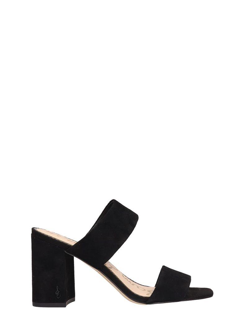 Sam Edelman Black Suede Delaney Sandals - black