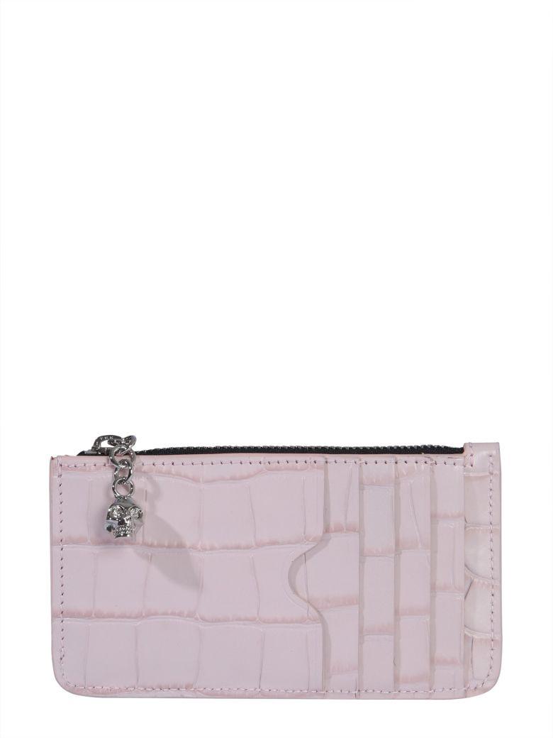 Alexander McQueen Card Holder With Zip - Pink