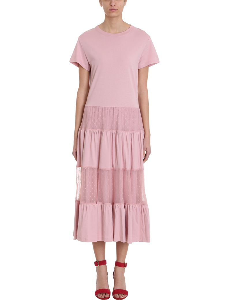 RED Valentino Pink Jersey Long Dress - rose-pink