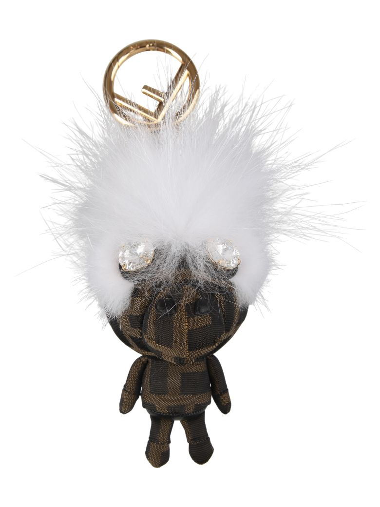 Fendi Space Monkey Charm - Hn Tabacco