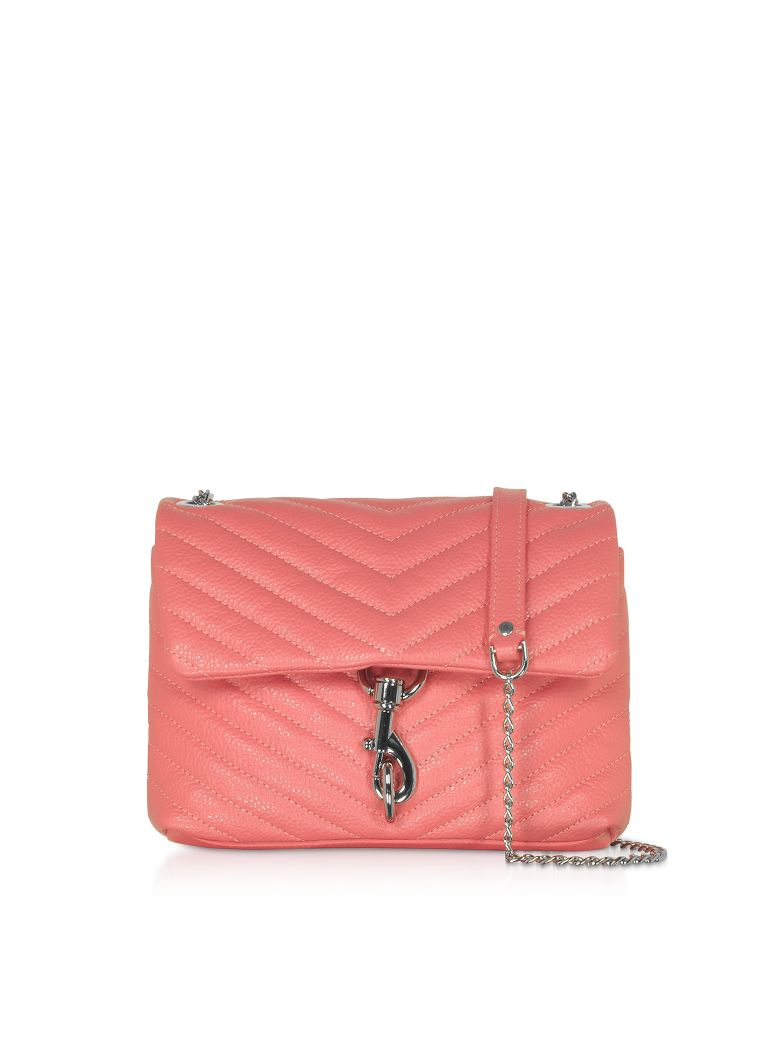 Rebecca Minkoff Quilted Leather Edie Xbody Bag - Pink Grapefruit
