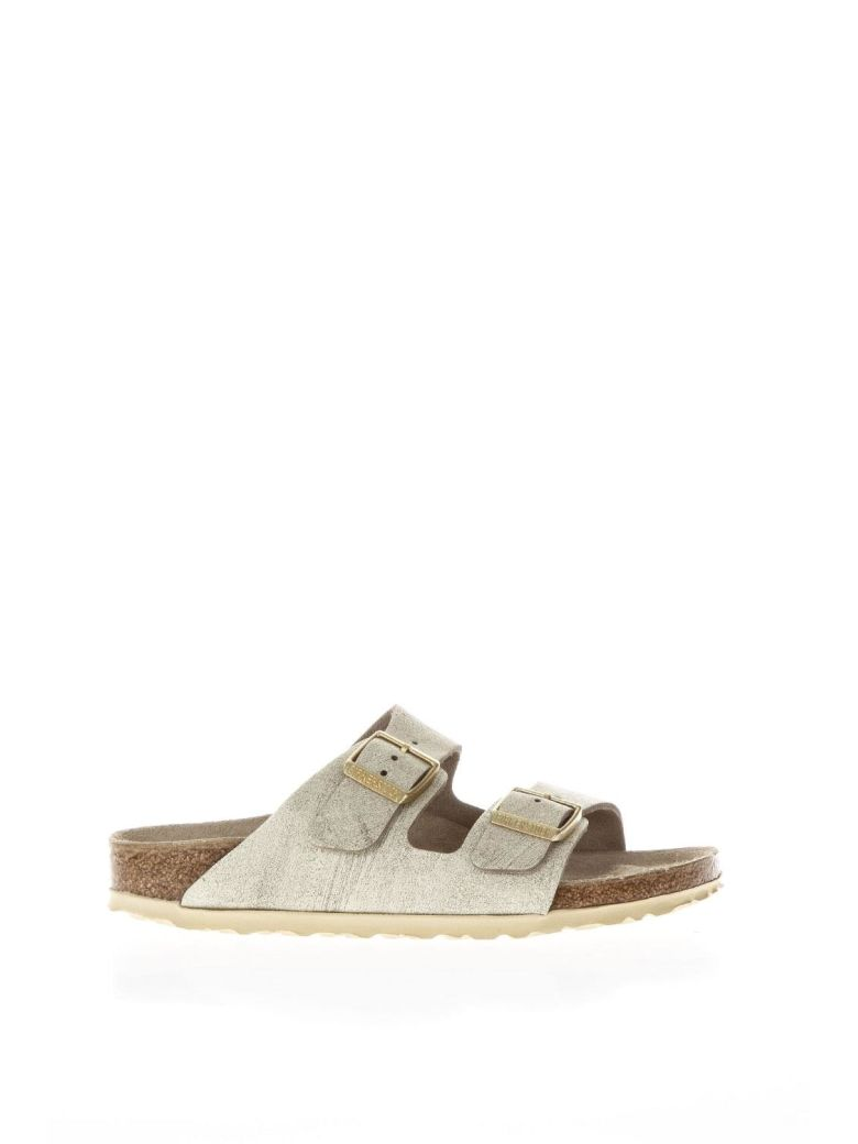 Birkenstock Cream Nabuk Sandals - White