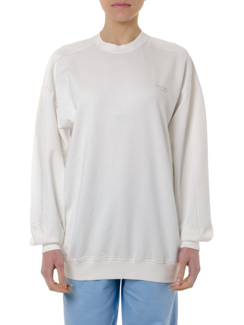 Acne Studios White Cotton Sweatshirt With Logo - White