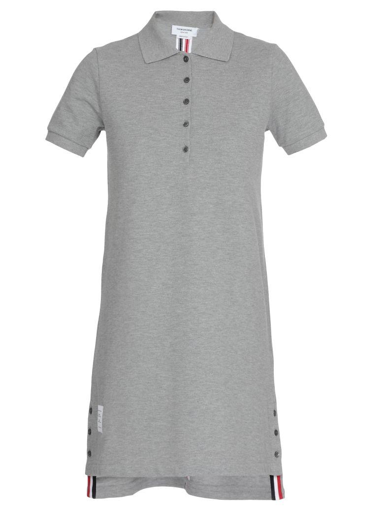Thom Browne A Line Polo Dress - Light grey