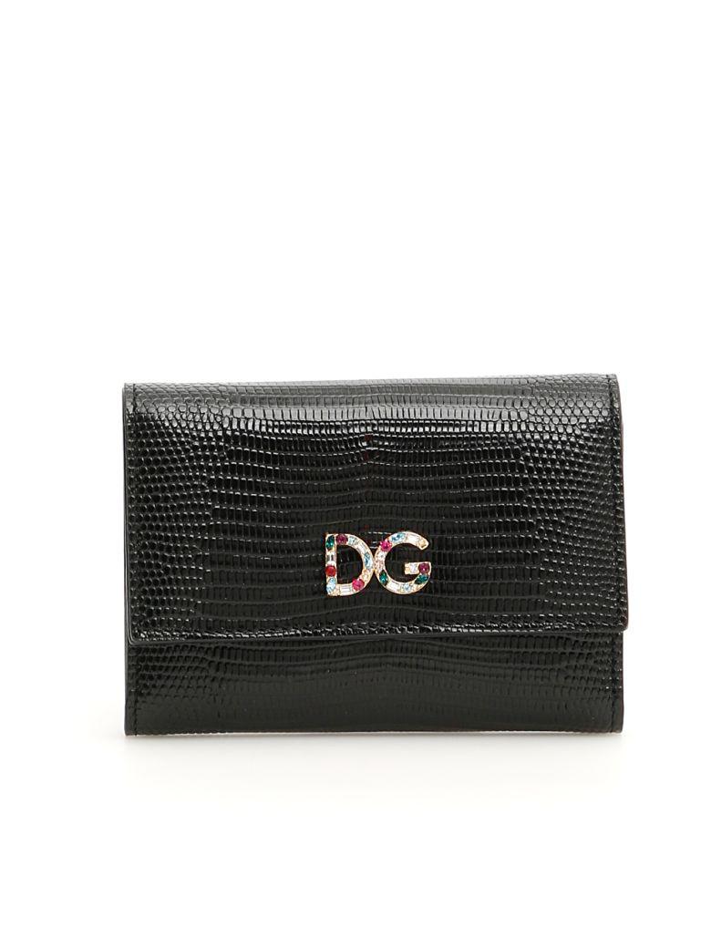 Dolce & Gabbana Crystal Dg Wallet - NERO (Black)