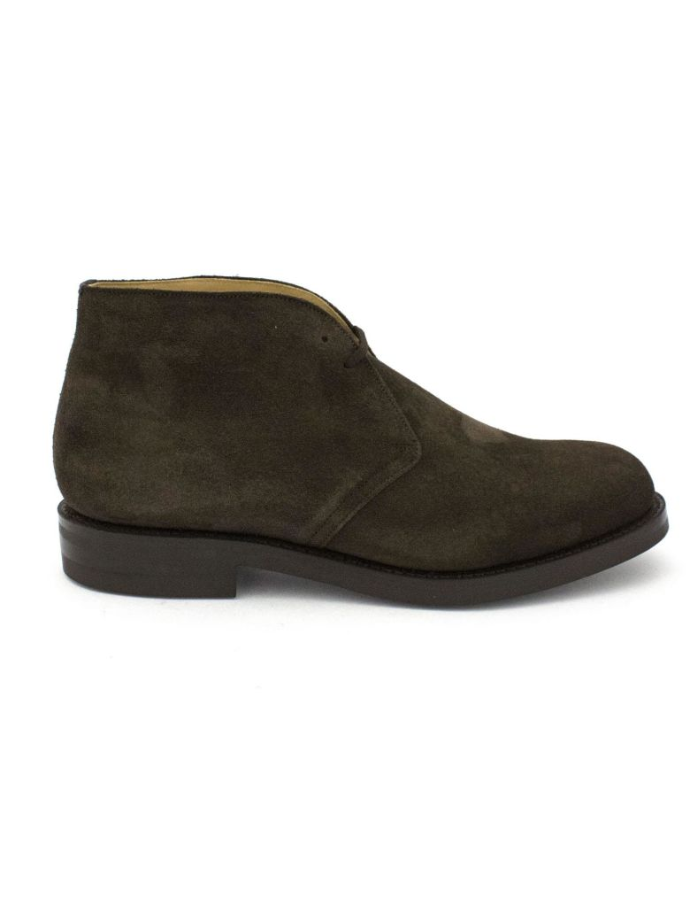 Church's Brown Leather And Suede Ryder 3 Desert Boots. - Marrone