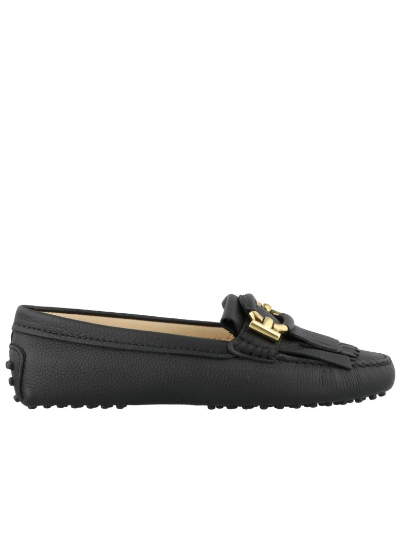 Tod's Gommino Fringed Loafers - Black