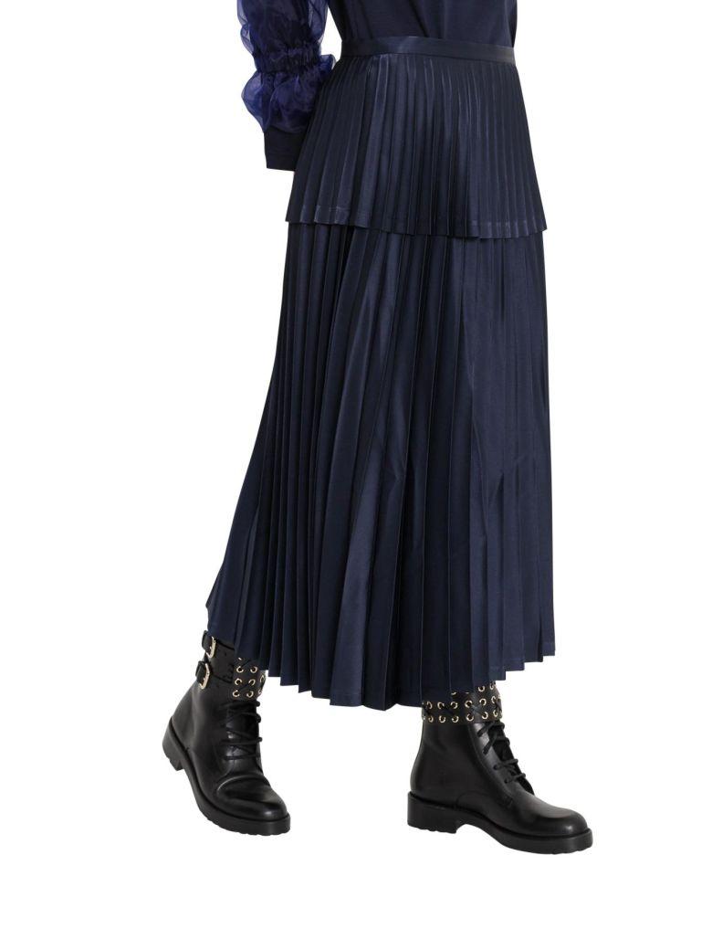Noir Kei Ninomiya Pleated Skirt - Navy