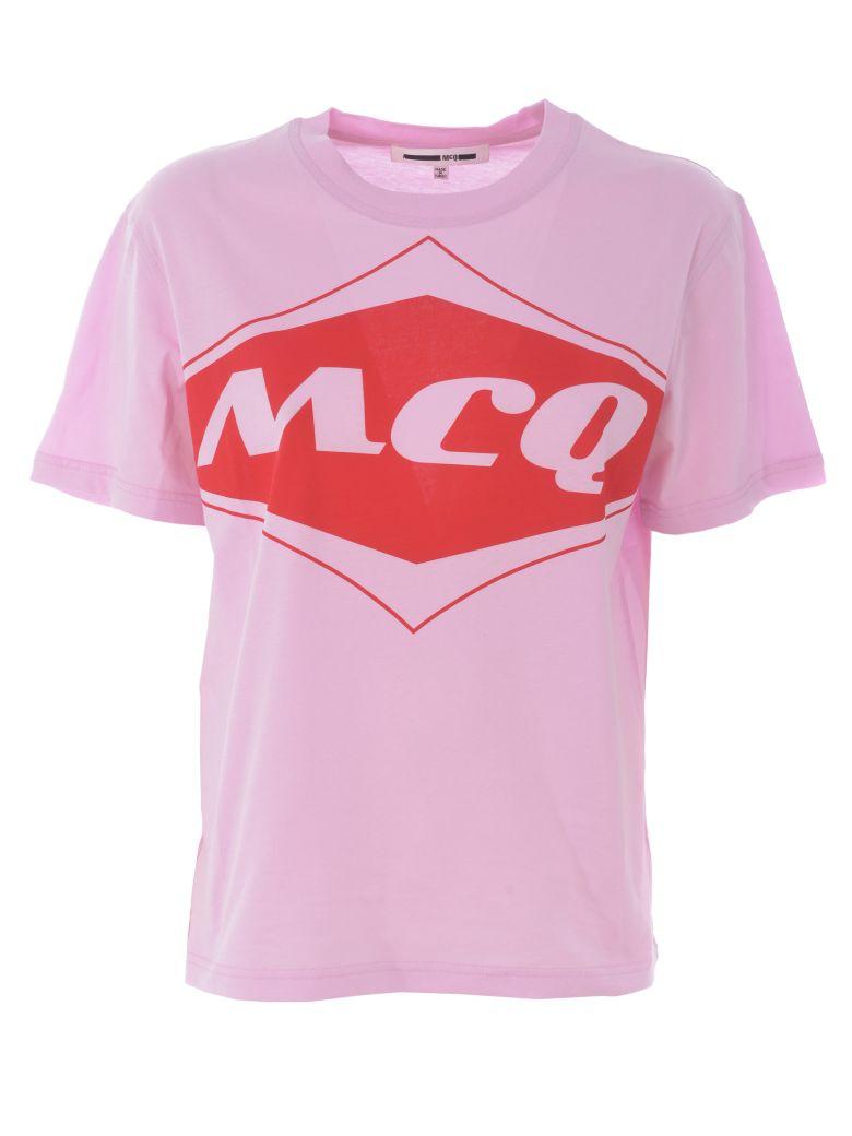 McQ Alexander McQueen Logo Print T-shirt - Rosa