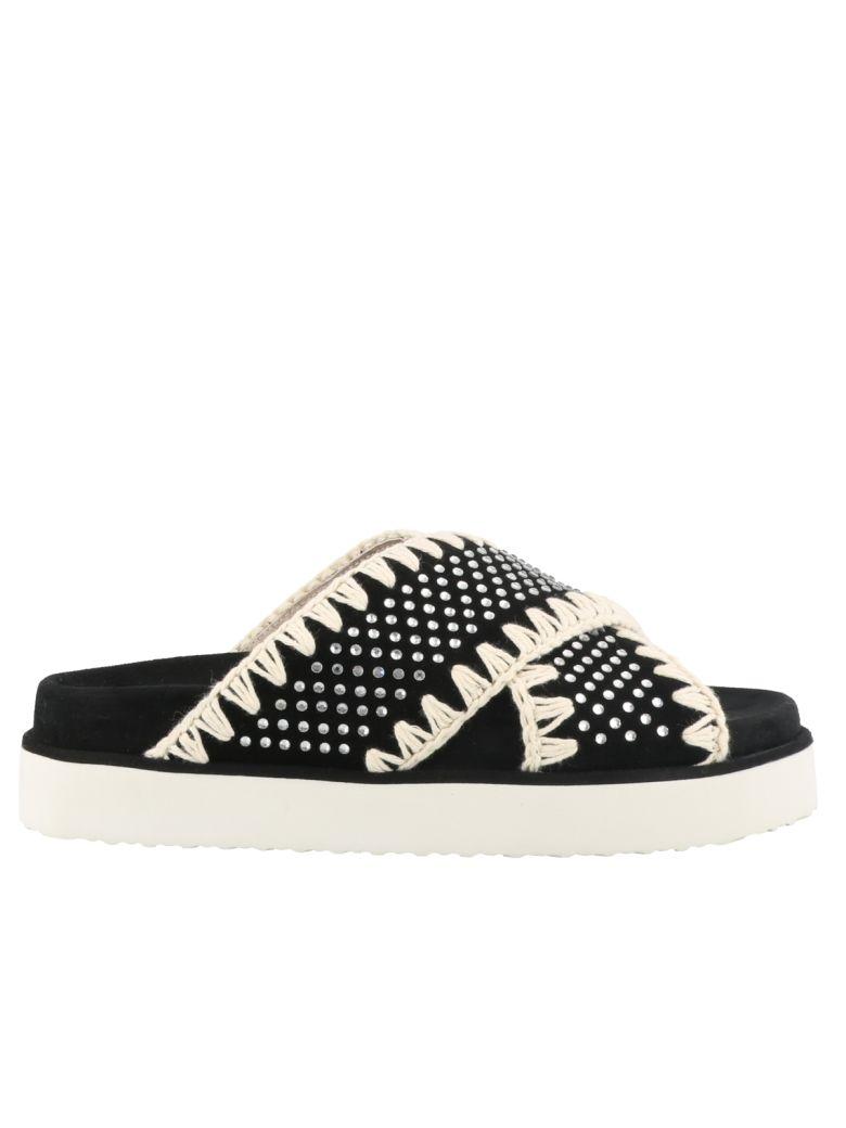 Mou Sandals - Black white