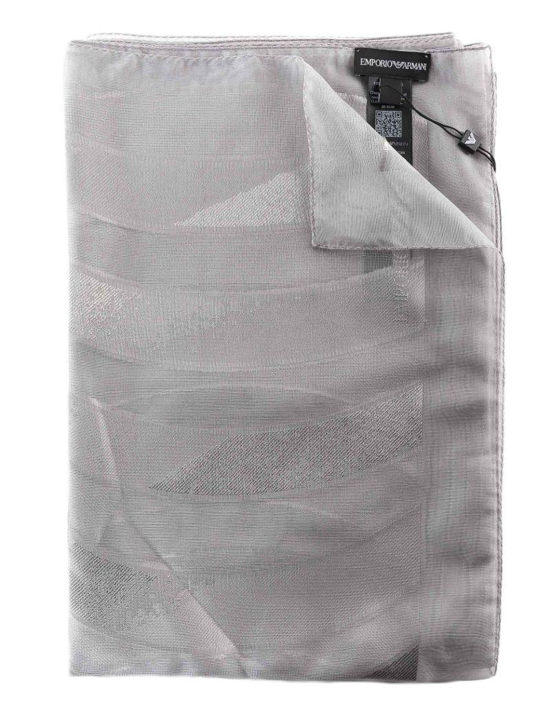 Emporio Armani Perforated Scarf - Stone Marmo