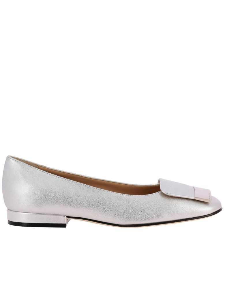Sergio Rossi Ballet Flats Shoes Women Sergio Rossi - silver