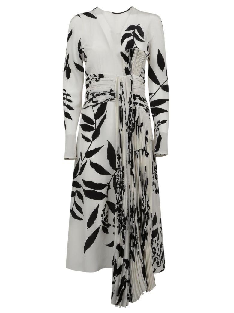 Rochas Leaf Dress - Black/white