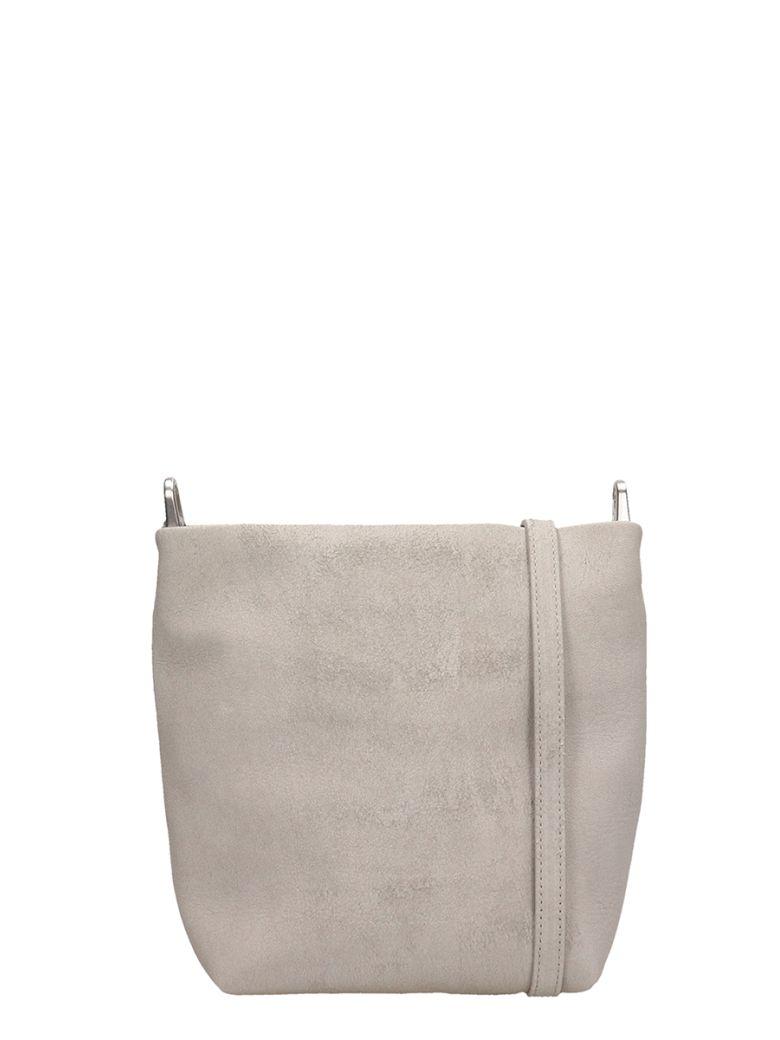 Rick Owens Grey Suede Small Adri Bag - grey