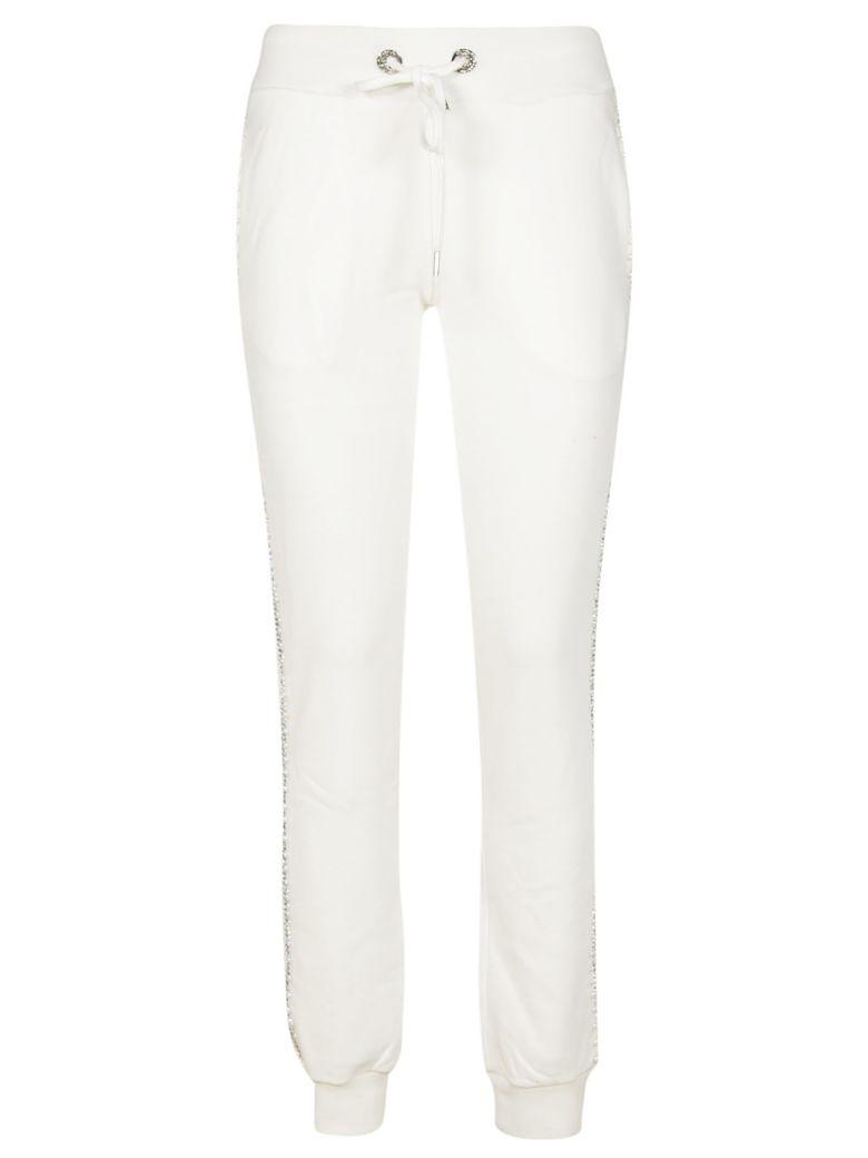 Philipp Plein Embellished Track Pants - White