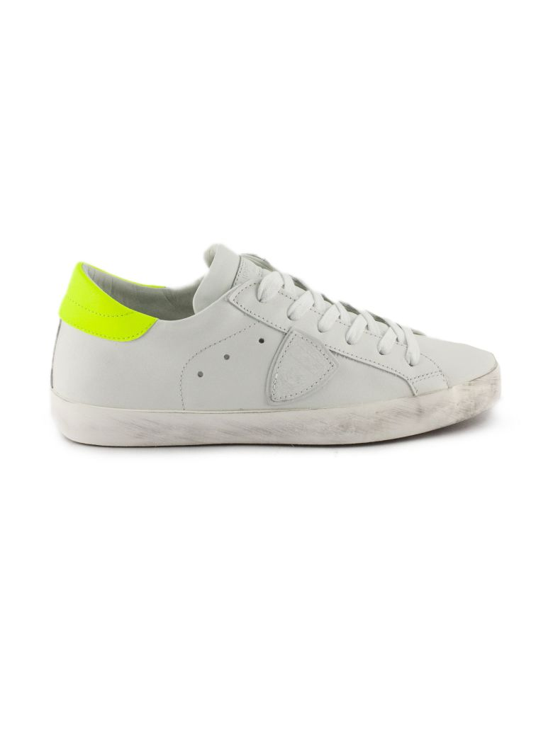 Philippe Model White Leather Paris Sneaker - Basic