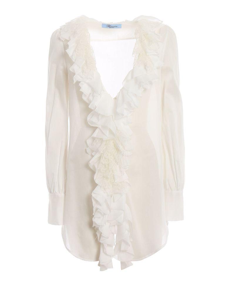 Blumarine Ruffle Trim Shirt - Bianco