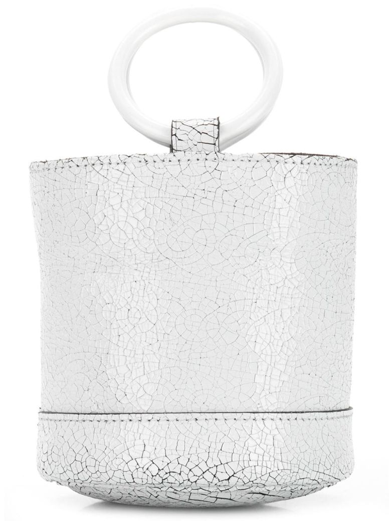 Simon Miller Cracked Effect Mini Bucket Tote - Bianco