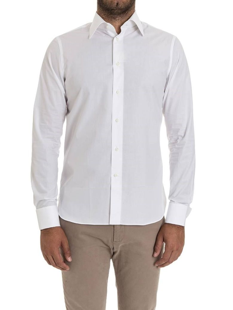 G. Inglese G Inglese Cotton Shirt Double Cuff - White
