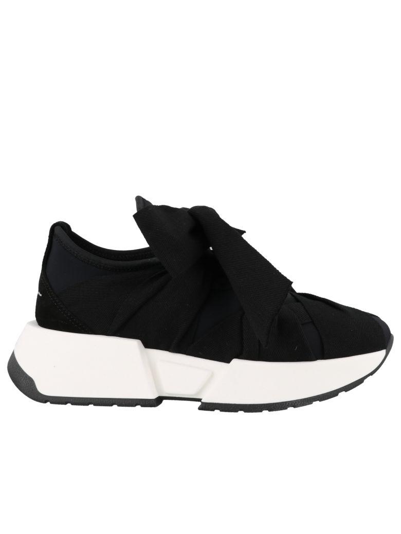 MM6 Maison Margiela Bow Tie Sneakers - Black